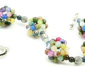 Gemstone Bracelet - Beaded Bracelet - Chunky Bracelet - Rainbow - Multi Color - Artisan Jewelry