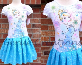 Girls Cinderella Dress, Toddler Girls Dress, Cinderella, Princess Dress, Cinderella Girls Dress, Toddler Girl - 2 Left 2T 3T