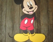 Mickey Mouse Large Diecut Scrapbook Piece