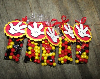 Mickey Mouse Birthday Party Candy Favor tags only - Set of 12