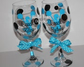 Personalized Cheer Coach Wine Glass - Cheer Coach Gift - #1 Seller Coach Gift - Personalized Coach Gift - Choose your team/school colors!