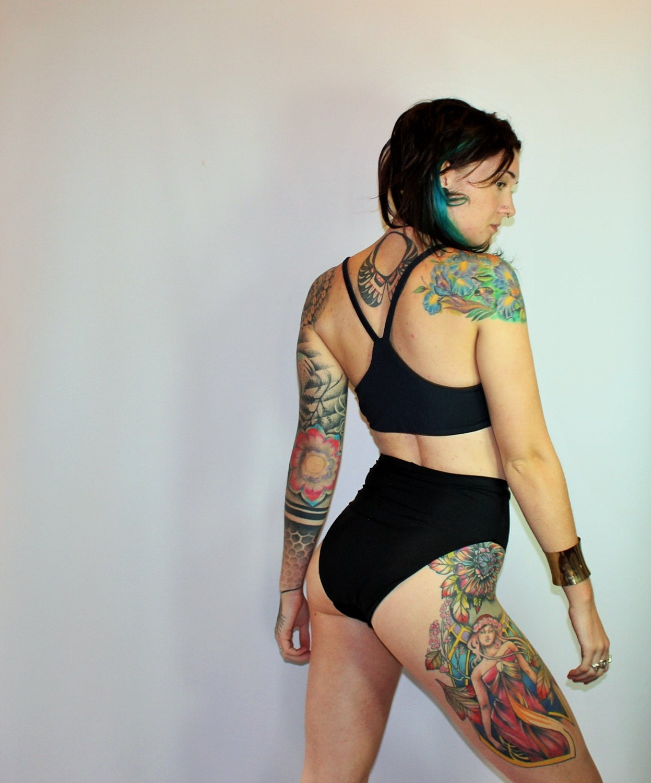 Custom Extra High French Cut High Waist 80 S Bikini Swimsuit