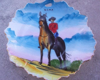 Royal Canadian Mounted Police Hand Painted Souvenir Plate