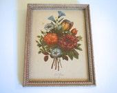 Vintage Framed Floral Lithograph J. L. Prevost - Floyd Jones Vintage