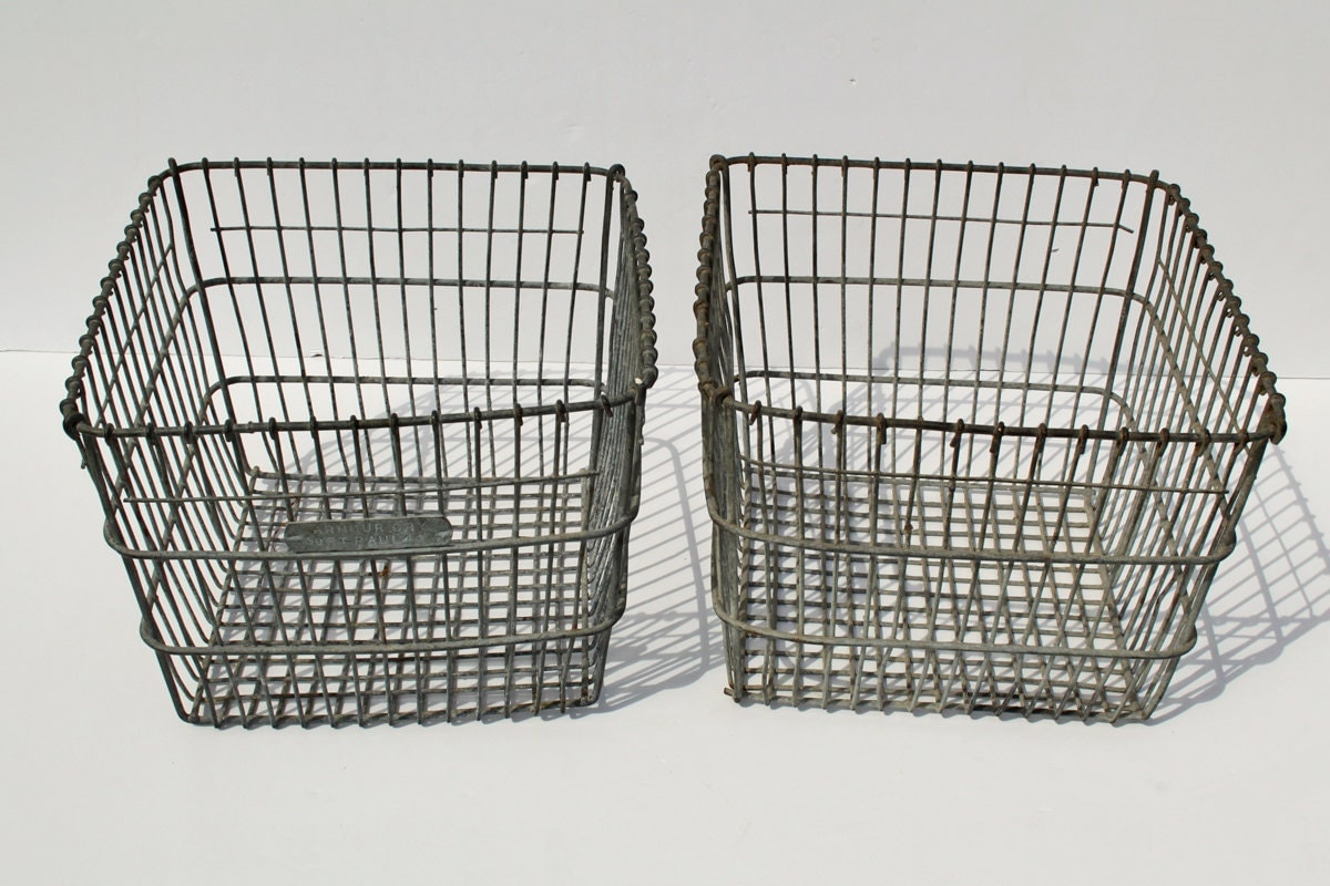 Product - Econoco's Chrome Sloped-Front Metal Wire Basket for Slatwall, Pegboard or Gridwall - Pack of 6. Product Image. Price $ Product - Rectangular Antique Galvanized Metal Baskets, Set of 2. Product Image. Price $ Product Title. Rectangular Antique Galvanized Metal Baskets, Set of 2.