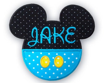 Applique Embroidery Mickey mouse head 054 -  Machine embroidery design - 7 Sizes