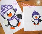 Snow Much Fun Penguins 01 Machine Applique Embroidery Design - 4x4, 5x7 & 6x8