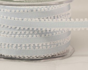 1/4 Inch Grosgrain Ribbon w/ Picot Edge by the yard