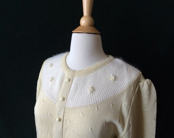 Vintage Pale Yellow Yoke Sweater
