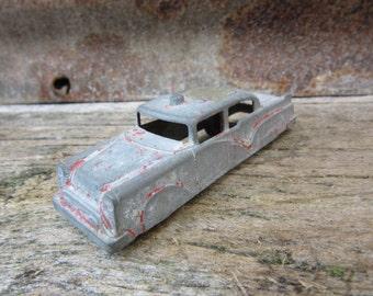 Vintage Metal Toy Truck Chippy Fireman Emergency Fire Truck Car Old Metal 1950s  Era Old Metal Toys Midgetoy Midge Toy vtg Truck Chippy