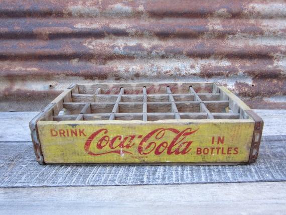 caisse en bois antique coke boisson livraison bo te de coca. Black Bedroom Furniture Sets. Home Design Ideas