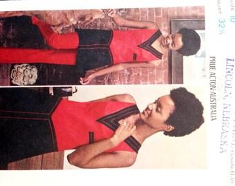 """Vintage 1960s Butterick Misses' Prue Acton Dress Pants Pattern 5806 Size 10 (32 1/2"""" Bust)"""