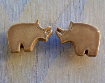 handmade ceramic furniture knob, drawer pull- safari nursery