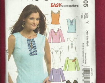McCalls 5105 Tee Shirts with Endless Style Options  Size XS..S..M