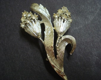 Glorious  Silver Tone Brooch Art Deco Style Great Detail