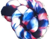 "Polwarth Wool Roving - Hand dyed Spinning Fiber - Felt- Nuno felt - Wet felting  ""Not just blue and red """