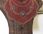 "Tibetan ""Breastplate"" Beaded Collar"