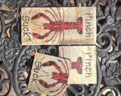 Crawfish Coasters Upcycled New Orleans Roofing Slate