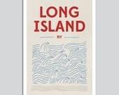 Waves Modern Art Print - Nautical Poster Beach Decor