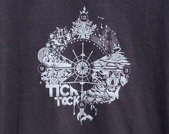 TICK TOCK screen print tee shirt