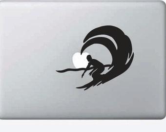 Macbook Air Surfer Wave Decal Lap Top Ocean Sticker