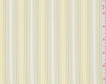 """59"""" Yellow stripe linen look by the yard"""