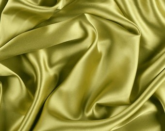 "42"" Wide Stretch Silk Charmeuse Chartreuse Green By the Yard"