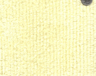 """56"""" Wide Cotton Chenille Maize Yellow By the Yard"""