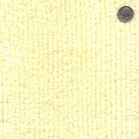 56 Wide Cotton Chenille Maize Yellow By The Yard