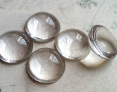 10 mm High Dome Round Crystal Clear Buttons (.tm)
