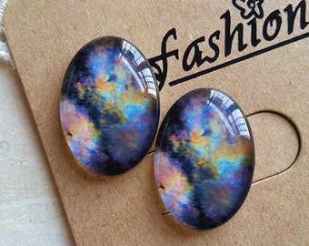 2 Pieces of 18 x 25 mm Oval Shape Photo Glass Cameo Cabochons(#238)  ( .au)