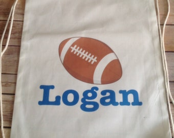 Personalized Name Drawstring Bag Sports football