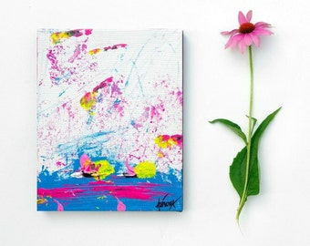 Fine art, Small Abstract Art - Original Painting Raw Epresstionism Wall Art - 8x10 painting Contemporary Art