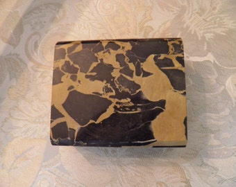 Marble Card Holder, Box, Desk Piece, Hinged Jewelry Box