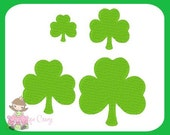 Shamrock Embroidery design 1.5 inch, 2 in, & 2.5 in
