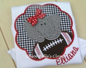Girls Football with Elephant Ruffle Shirt