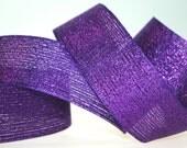 "1.5"" Metallic Woven Wired Ribbon"