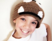 Brown Mushroom Monster - Super Mario Bros Goomba Inspired - Crochet Cosplay Hat