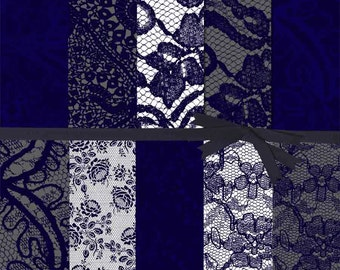 NAVY DIGITAL PAPER:Lace Digital Paper, Navy and Gray Digital Paper, Navy Lace Digital Paper, Navy Blue and Gray Lace Digital Paper, #13023