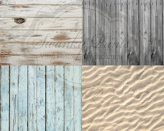 Combo Two 4ft X 4ft Vinyl Photography Backdrops By