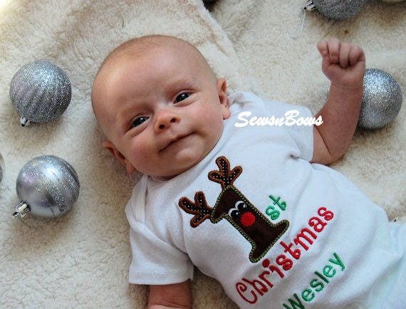 Items similar to Baby First Christmas- Baby Boy First Christmas ...