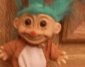 Adorable RUSS Troll 1980s Reindeer Troll Vintage Collectible Troll Doll