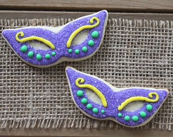 Masquerade Mask // Masquerade Decorations // Masquerade Gifts // Masquerade Party Favors // Mardi Gras Decorations // Mask Sugar Cookies