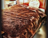 Faux Fur Bed Spread / Shaggy Brown Sheep / Brown Bear / Throw Blanket / All New Sizes