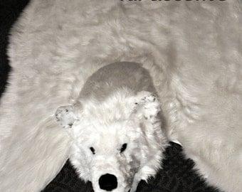 popular items for bear skin rug on etsy. Black Bedroom Furniture Sets. Home Design Ideas