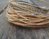Fiber Wire Core Handspun Art Yarn 24 gauge wire Red Riding Hoods Wolf- Busy Bees
