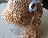 Cabbage Patch Inspired Hat  All Sizes Custom Made for You ~ Your Choice of Colors and Details Fun Photo Prop