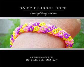 Daisy Filigree Rope PDF beading tutorial