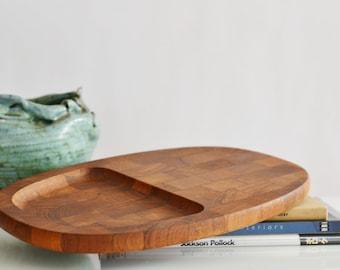 Mid Century Modern Danish Teak Cheese Tray by DANSK