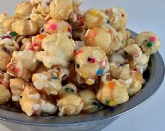 BIRTHDAY CAKE Freedom Snacks Gourmet Glazed Handcrafted Popcorn